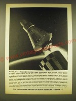 1961 North American Aviation Rocketdyne Ad - May 5, 1961 - First Man in space