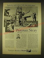 1961 Employers Mutuals of Wausau Ad - Explosives and echoes help map inner space