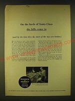 1961 Warner & Swasey Electrocycle Lathe Ad - On the heels of Santa Claus