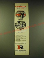 1960 Ryder Truck Rental Ad - In Canada you can lease from Ryder Trucks Cars