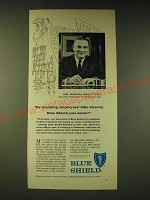 1960 Blue Shield Insurance Ad - By handling employees' bills directly