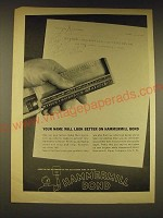 1960 Hammermill Bond Paper Ad - Your name will look better on Hammermill Bond