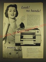 1960 Bruning Copyflex Model 120 Ad - Look! No Hands!