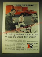 1960 Ryder Truck Rental Ad - Time to decide Should I guesstimate my truck costs