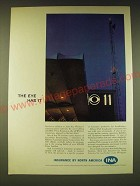 1960 INA Insurance by North America Ad - The eye has it