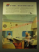 1960 United Air Lines Ad - At home On an extra care jet