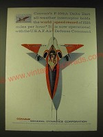 1960 Convair F-106A Delta Dart Ad - world speed record