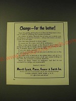 1960 Merrill Lynch Ad - Change - for the better