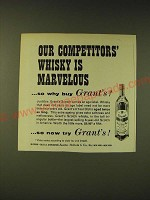 1960 Grant's Scotch Ad - Our competitors' whisky is marvelous