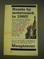 1960 Maupintour Travel Ad - Russia by motorcoach in 1960
