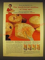 1958 Betty Crocker Muffin Mix Ad - Raisin-Bran, Date, Corn and Orange