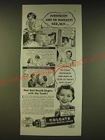 1936 Colgate Ribbon Dental Cream Ad - Everybody says he neglects her