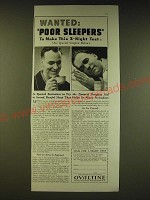 1936 Ovaltine Drink Mix Ad - Wanted: Poor Sleepers to make this 3-night test