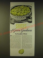 1936 Heinz Fresh Cucumber Pickle Ad - Slices of green goodness Josephine Gibson