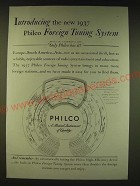 1936 Philco Foreign Tuning System Ad