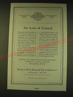 1936 Bank of New York & Trust Company Ad - No loss of control