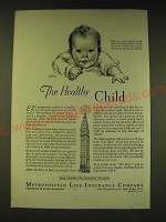 1936 Metropolitan Life Insurance Company Ad - The Healthy Child