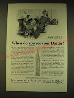 1936 Metropolitan Life Insurance Company Ad - When do you see your doctor