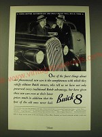 1936 Buick 8 Car Ad - One of the finest things about our phenomenal new cars
