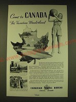 1936 Canadian Travel Bureau Ad - Come to Canada the Vacation Wonderland