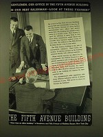 1936 The Fifth Avenue Building Ad - Gentlemen, our office