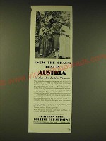 1936 Austrian State tourist Department Ad - know the charm that is Austria