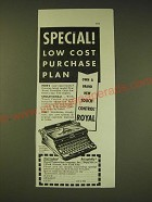 1936 Royal Typewriter Ad - Special low cost purchase plan