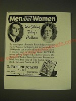1936 The Rosicrucians Ad - Men and women are solving today's problems