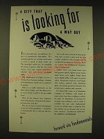1935 Aluminum Company of America Ad - A city that is looking for a way out