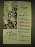 1935 Kimberly-Clark Kleerfect Paper Ad - Because Napoleon tried to conquer