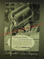 1935 Continental Can Company Ad - Pack up your troubles in a sealed tin can
