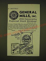 1935 General Mills Ad - General Mills, inc. 27th consecutive preferred stock