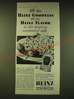 1933 Heinz Cooked Spaghetti Ad - All the Heinz goodness all the Heinz flavor