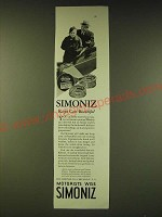 1933 Simoniz Wax Ad - Simoniz keeps cars beautiful