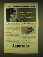 1933 Sonotone Hearing Aid Ad - and the deafened shall hear