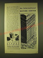 1933 The Fifth Avenue Building Ad - An international buying center