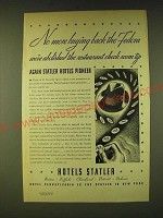 1933 Hotels Statler Ad - No more buying back the Fedora