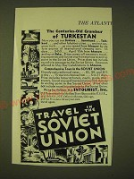1933 Intourist Inc. Ad - The centuries-old Grandeur of Turkestan