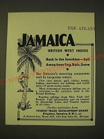 1933 Tourist Trade Development Board Ad - Jamaica British West Indies