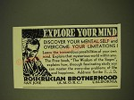 1933 Rosicrucian Brotherhood Ad - Explore your mind