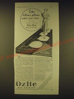 1931 Ozite Rug Cushion Ad - Like billowy pillows under your feet