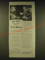 1931 Ovaltine Drink Ad - Do this when nerves won't let you sleep