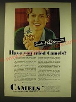 1931 Camels Cigarettes Ad - Have you tried Camels?