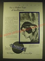 1931 Pebeco Tooth Paste Ad - For a higher type of intelligence