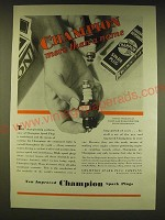 1931 Champion Spark Plugs Ad - Champion more than a name