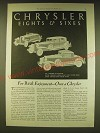 1931 Chrysler Car Ad - Six Roadster, Imperial Eight Close Couped Sedan
