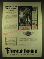 1931 Firestone Tires Ad - Firestone high speed tires the safest tires