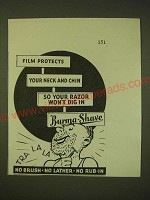 1931 Burma-Shave Shaving Cream Ad - Film protects your neck and chin