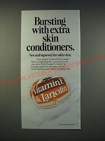 1990 Jergens Vitamin E & Lanolin Skin Conditioning Bar Ad - Bursting with extra