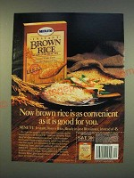 1990 Minute Instant Brown Rice Ad - Now brown rice is as convenient